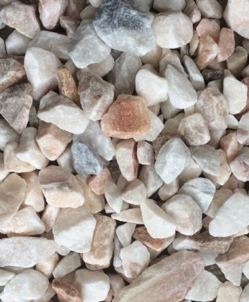 Decorative COLOURED Stones Pebbles Gravels LARGE - WHITE GREY PINK